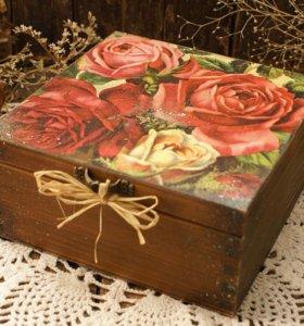 """Шкатулка для мелочей """"Розы"""" (подарок)"""