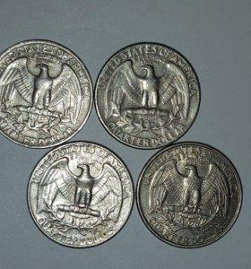 Quarter dollar liberty USA 1965.67.85.95