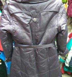 Новое подростковое Пальто осень-зима,140-146 см.