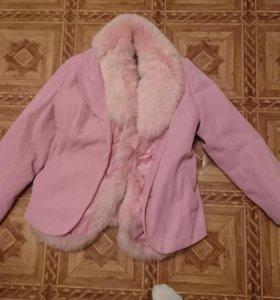 Куртка тёплая. Подкладка отстегивается.