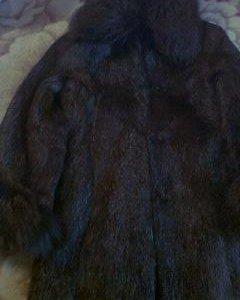 Полушубок нутрия отделка писец цвет коричневый