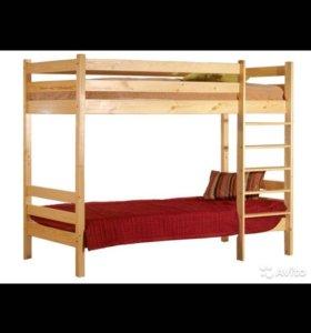 2ярусные кровати из массива сосны