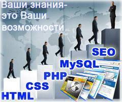 курсы создания и продвижения сайтов, курсы Web