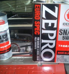 Моторное масло Zepro EURO SPEC  5W-40, SN/CF