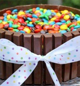 Торты из соков и сладостей