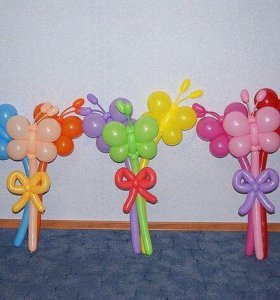 Гелиевые шары и фигуры. Букеты из шаров