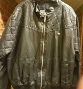 Кожаная куртка Армани