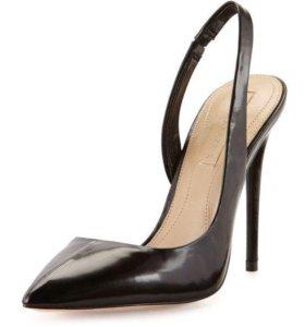Туфли BCBG MAXAZRIA натуральная кожа 6р черные