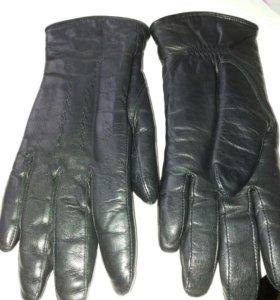 Перчатки кожа зимние