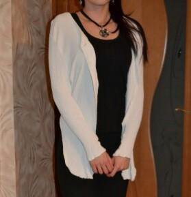 Белая блузка-накидка