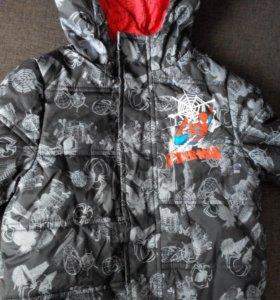 Куртка демисезонная, на теплую зиму 1-3 года