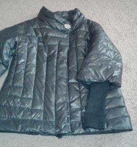 Куртка , рукава 3/4 вязаные рукава