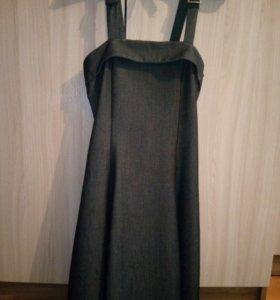 Серый школьный сарафан