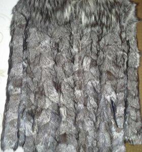 Шуба мех чернобурка 46-48-50
