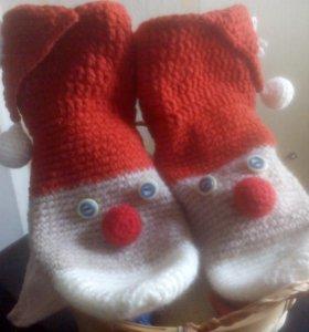 Носки Санта Клаус