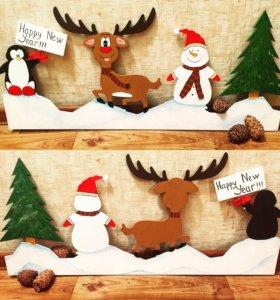 Веночки и украшения для нового года и Рождества