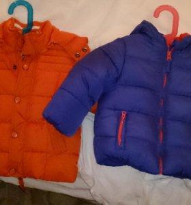 Куртки детские зимние новая и чуть бу dpam motherc