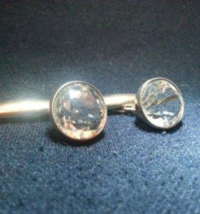 Запонки старинные (серебро)