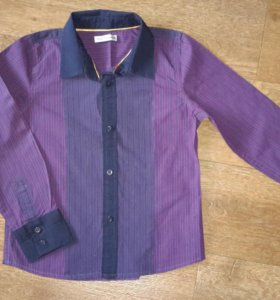 Нарядная полосатая рубашка фирмы Marks&Spencer.