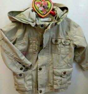 Куртка демисезон-лето детская хлопок 74 см