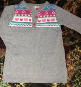 Теплые кофточки туники свитера