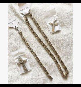 Крест, браслет , цепочка