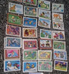 Календарики времён СССР мультфильмы
