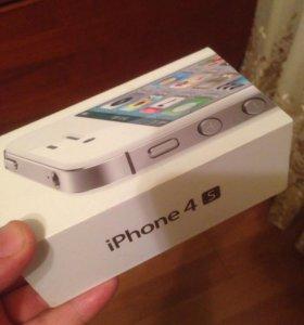 Коробка от iPhon 4s белая
