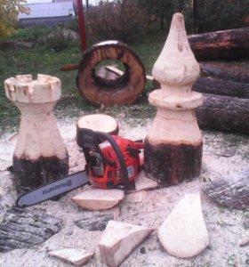 Шахматные фигуры из дерева большие