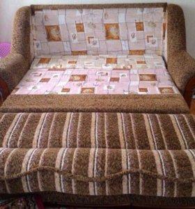 Мягкая мебель - диван + кресло