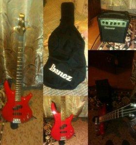Четырёх-струнная бас гитара. Ibanez