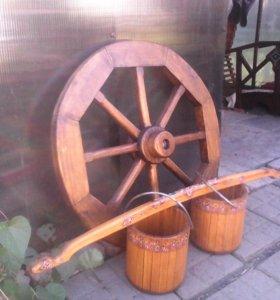 Декоративное колесо от телеги
