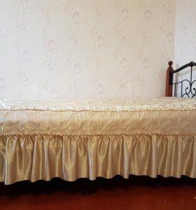 Кровать новая,1×2,матрас 16 см.
