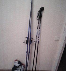 Лыжи , палки