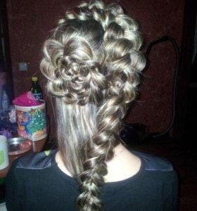 Плетения кос, прически:)