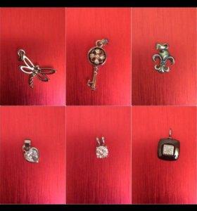 Новые Серебрянные подвески