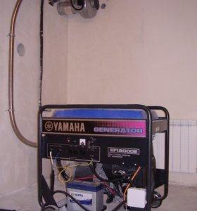 Отвод выхлопа генератора