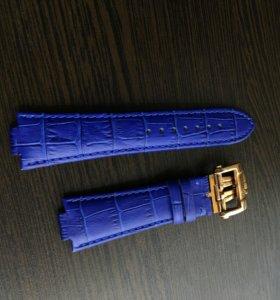 Синий Кожаный ремешок для Ulysse Nardin