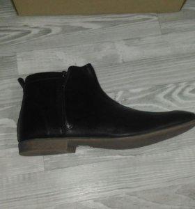 Новые ботинки (осень),кожа