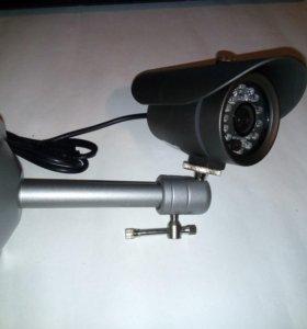 Камера видеонаблюдения уличная с ИК подсветкой ч/б