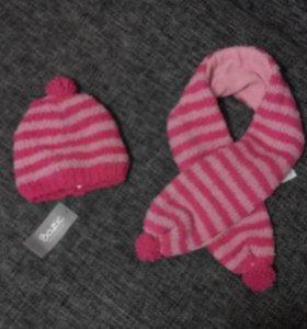 Шапочка и шарф (новые) на флисе