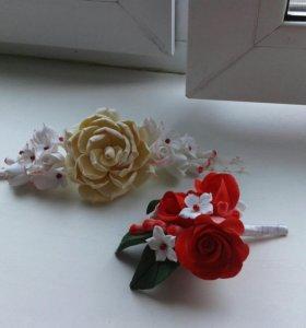 Цветы ручной работы. Свадебные букеты и украшения.