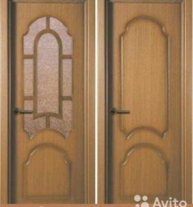 Межкомнатная дверь шпон Соната, 4 цвета