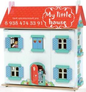 Кукольный домик,игровой паркинг,детская кухня.