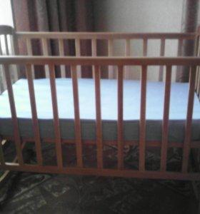 Новые детская кроватка+ортопедический матрас