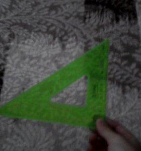 Линейка треугольник