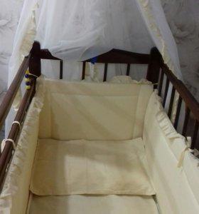Комплект белья в детскую кроватку