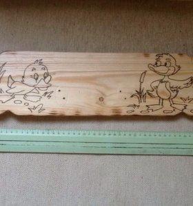 Вешалки для детей деревянные