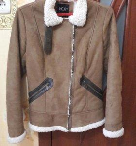 Куртка осенняя замшевая на искусственном меху