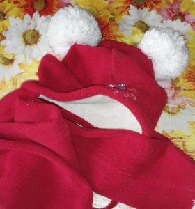 Шапка и шарф на девочку